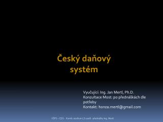Český daňový systém