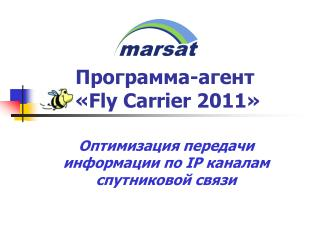 Программа-агент  « Fly  Carrier 2011 »