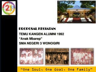 "TEMU KANGEN Alumni  19 92 "" Anak Mbarep "" SMA NEGERI  3 WONOGIRI"