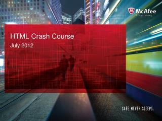 HTML Crash Course
