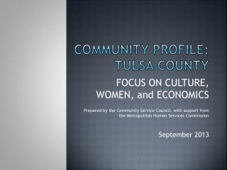 Community Profile:  Tulsa County