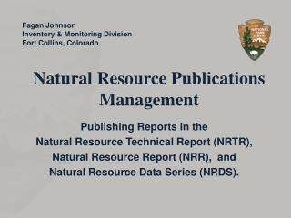Natural Resource Publications Management