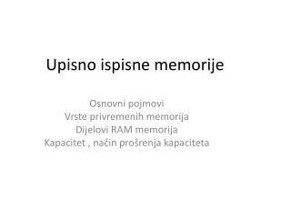 Upisno ispisne memorije