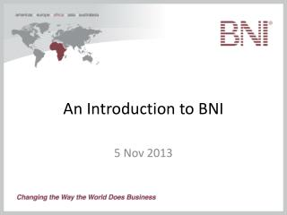 An Introduction to BNI