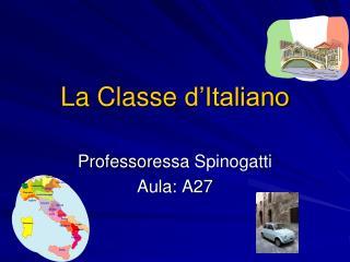 La  Classe d'Italiano