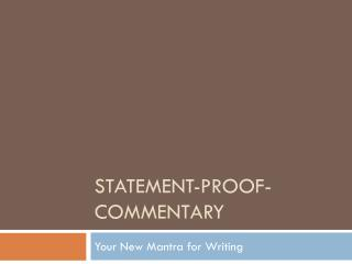 Statement-Proof-Commentary