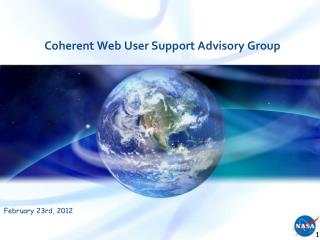 Coherent Web User Support Advisory Group