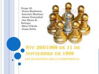 Stc  208/1999 de 11 de noviembre de 1999