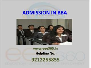 Admission in BBA
