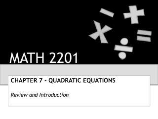 MATH 2201