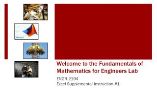 Welcome to the Fundamentals of Mathematics for Engineers Lab