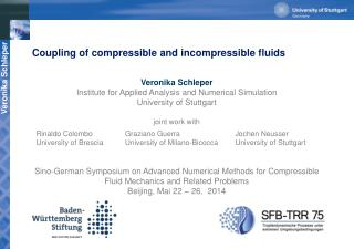 Coupling of compressible and incompressible fluids
