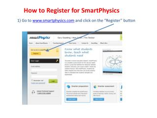 How to Register for SmartPhysics