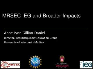 MRSEC IEG and Broader Impacts