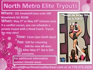 North Metro Elite Tryouts