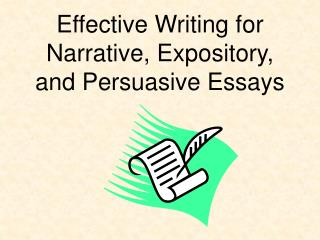 Effective Writing for  Narrative, Expository, and Persuasive Essays