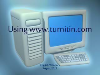 Using  turnitin