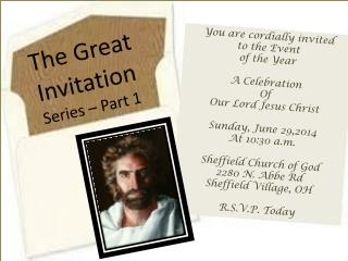 The Great Invitation Series – Part 1