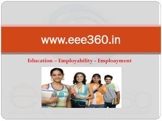 EEE360 - Education, Employability, Employment
