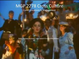 MGP 2278 Cross Culture Communications & Management