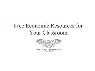 Free Economic Resources for Your Classroom