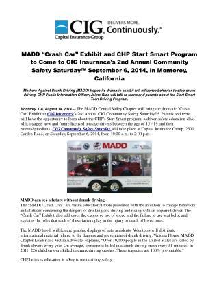 "MADD ""Crash Car"" Exhibit and CHP Start Smart Program"