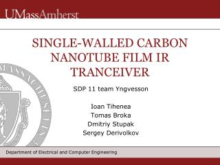 SINGLE-WALLED CARBON NANOTUBE FILM IR  TRANCEIVER