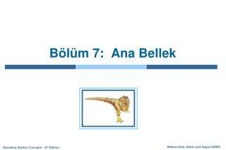 B�l�m 7 :   Ana Bellek