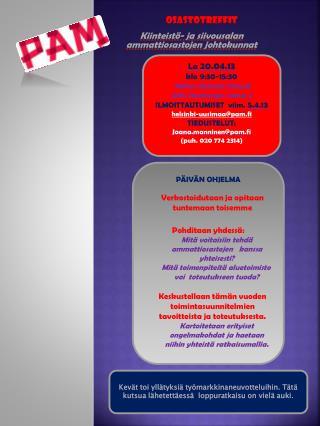 Kiinteistö- ja siivousalan ammattiosastojen johtokunnat