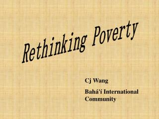 Rethinking Poverty