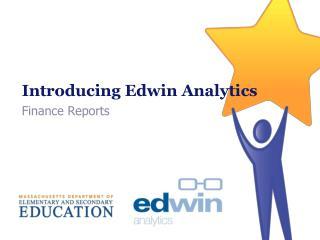 Introducing Edwin Analytics