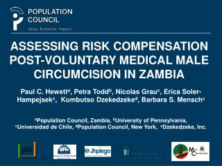 Assessing risk compensation post-voluntary medical male circumcision in Zambia
