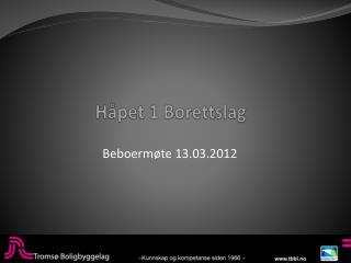 Håpet 1 Borettslag