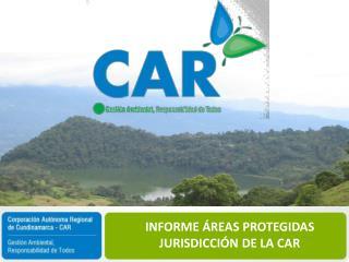 INFORME ÁREAS PROTEGIDAS JURISDICCIÓN DE LA CAR