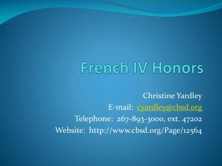 French IV Honors