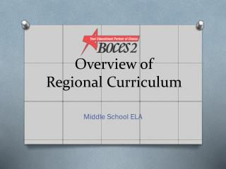Overview of Regional Curriculum
