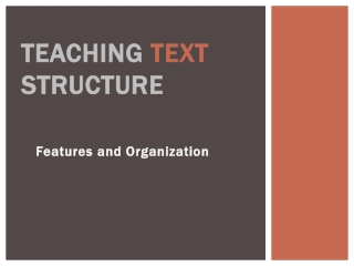 Teaching Text Structure
