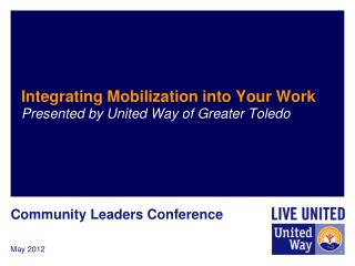 Integrating Mobilization into Your Work