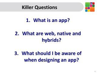 Killer Questions