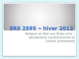 SRS 2595 � hiver 2012
