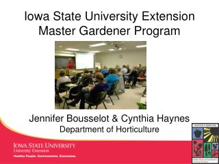 Iowa State University Extension  Master Gardener Program