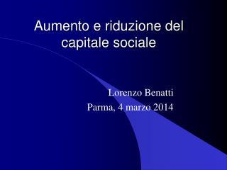 Aumento e riduzione del capitale sociale