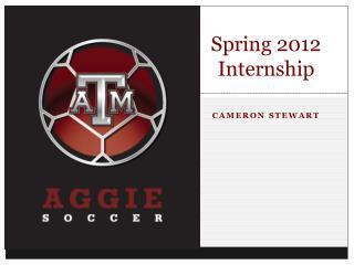 Spring 2012 Internship