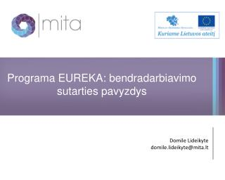 Programa EUREKA: bendradarbiavimo sutarties pavyzdys