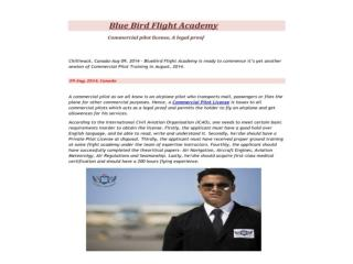 Pilot Training at Blue Bird Flight Academy