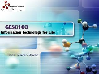Information Technology for Life
