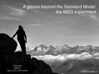 A glance beyond the Standard Model: the MEG experiment