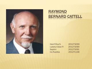 RAYMOND BERNARD  CATTELL