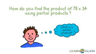 How do you find the product of 78 x 34 using partial products ?