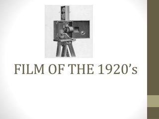 THE SILENT EUROPEAN CINEMA